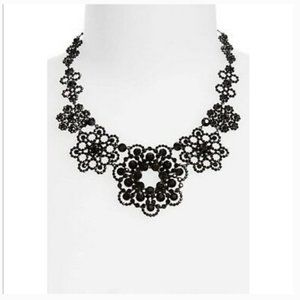kate spade black crystal lace necklace nwt